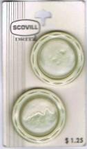 Vintage Scovill Dritz Off White Plastic Buttons