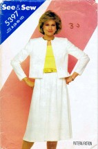 See & Sew 5397 Sewing Pattern Jacket Skirt Top Size 8 - 10 - 12