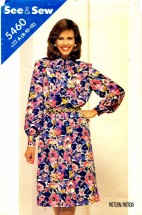 See & Sew 5460 Blouse and Skirt Size 8 - 12 - Bust 31 1/2 - 34