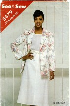 See & Sew 5479 Misses Jacket & Skirt Size 16 - 20 Bust 38 - 42