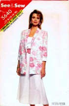 See & Sew 5640 Sewing Pattern Misses Jacket Top Skirt Size 12 - 14 - 16