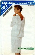 See & Sew 5977 Misses Top & Skirt Size 6 - 14