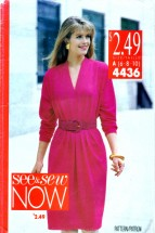 See & Sew 4436 Sewing Pattern Womens Loose Fitting Dress Size 6 - 8 - 10