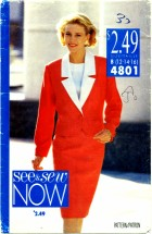 See & Sew 4801 Jacket Top Skirt Suit Size 12 - 16 - Bust 34 - 38