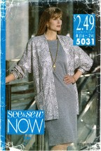 See & Sew 5031 Jacket & Dress Size 16 - 24 - Bust 38 - 46