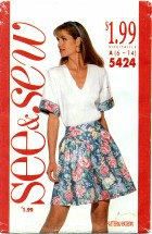 See & Sew 5424 Top & Shorts Size 6 - 14