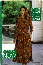 See & Sew 5753 Misses Dress Size 18 - 22 - Bust 40 - 44