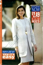 See & Sew 6323 Jacket Dress Suit Size 6 - 14 - Bust 30 1/2 - 36