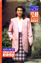 See & Sew 6324 Sewing Pattern Jacket Skirt Blouse Suit Size 6 - 14