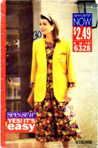 See & Sew 6328 Jacket Top Skirt Size 6 - 14 - Bust 30 1/2 - 36