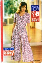 See & Sew 6881 Misses Jumpsuit Size 6 - 10