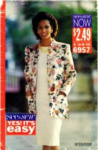 See & Sew 6957 Jacket and Dress Size 6 - 10 - Bust 30 1/2 - 32 1/2