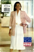 See & Sew 3292 Jacket & Dress Size 12 - 16 - Bust 34 - 38