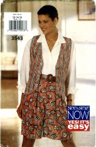 See & Sew 3543 Misses Vest & Shorts Size 12 - 16