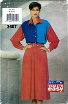 See & Sew 3607 Misses Dress Size 18 - 22