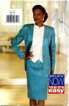 See & Sew 3835 Jacket Top Skirt Suit Size 6 - 10 - Bust 30 1/2 - 32 1/2