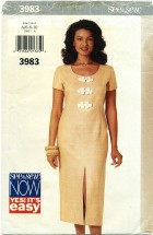See & Sew 3983 Straight Dress Size 6 - 10