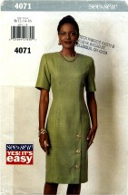 See & Sew 4071 Fitted Straight Dress Size 12 - 16 - Bust 36 - 40