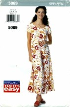 See & Sew 5069 Loose Fitting Dress Size 6 - 10