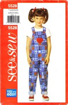 See & Sew 5528 Girls Jumpsuit Size 2 - 6X