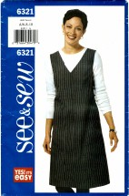 See & Sew 6321 A-line Jumper Size 6 - 10 - Bust 30 1/2 - 32 1/2