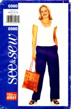See & Sew 6980 Jacket Top Pants Size 14 - 18 - Bust 36 - 40