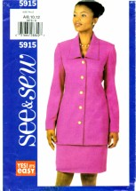 See & Sew 5915 Sewing Pattern Misses Top Skirt Size 8 - 10 - 12