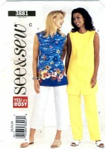 See & Sew 3881 Top Tunic Pants Size 20 - 24 - Bust 42 - 46