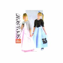 Girls Poodle Skirt Petticoat Appliques See & Sew 4008 Sewing Pattern Size 7 - 8 - 10 - 12 - 14 - 16