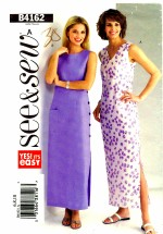 See & Sew 4162 Sewing Pattern Straight Fitted Dress Size 6 - 8 - 10