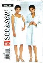 See & Sew 4327 Misses Duster & Dress Size 20 - 24