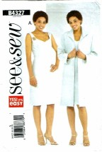 See & Sew 4327 Misses Duster & Dress Size 8 - 12