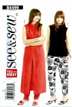 See & Sew 4499 Top Dress Pants Size 20 - 24
