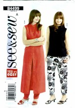 See & Sew 4499 Misses Top Dress Pants Size 8 - 12