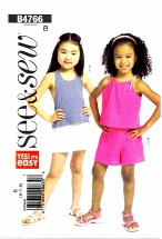 See & Sew 4766 Halter Top & Shorts Size 6 - 8