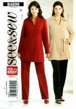 See & Sew 4899 Tunic Belt Pants Size 4 - 14