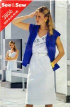 See & Sew 3806 Sewing Pattern Jacket Dress Size 14 - 16 - 18