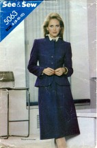 See & Sew 5063 Jacket Skirt Suit Size 8 - 12 - Bust 31 1/2 - 34