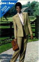 See & Sew 5225 Jacket Pants Suit Size 8 - 12 - Bust 31 1/2 - 34