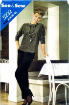 See & Sew 5232 Sewing Pattern Top & Pants Size 8 - 10 - 12