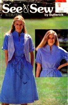 Reversible Vest Dress Belt Size 10 See & Sew 6399 Sewing Pattern