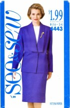 See & Sew 4443 Jacket Top Skirt Suit Size 16 - 24 - Bust 38 - 46