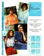 Front Button Blouse Size 4 - 22 Step by Step Sewing Pattern