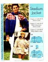 Stadium Jacket Size 4 - 22 Step by Step Sewing Pattern