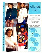Tailored Shirt Size 4 - 22 Step by Step Sewing Pattern
