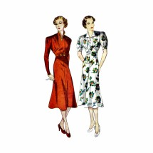 1930s Misses Princess Frock Dress Simplicity 2276 Vintage Sewing Pattern Bust 32