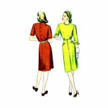1940s Misses Dress Simplicity 1204 Vintage Sewing Pattern Size 14 Bust 32