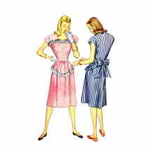1940s Womens Dress Simplicity 1912 Vintage Sewing Pattern Size 14 Bust 32