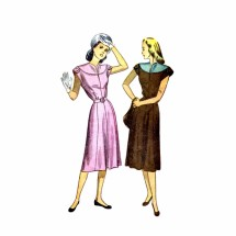 1940s Misses Dress Simplicity 2095 Vintage Sewing Pattern Size 14 Bust 32