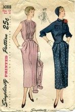 Vintage 1940's Simplicity 3088 Misses Dress Jacket Size 12 - Bust 30
